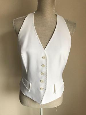 Planet Womens White Formal Waistcoat Size 10-12 (61)