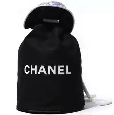 Chanel VIP Gift Bag Canvas Waterproof Drawstring Backpack 1705151 Brand New