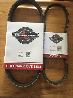 Club Car Golf Cart DS & Precedent Starter Belt & Drive Belt 97&UP FE290 & FE350