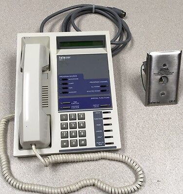 Telecor Mcc-4 Administrative Console For Intercom Pa Paging Phone Wall Plate