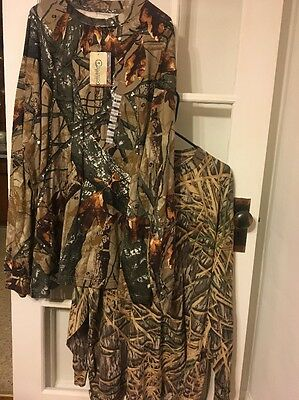Men's Camouflage Long Sleeve Shirts Size 3XL Fusion 3-D and Mossy Oak - Lot of 2