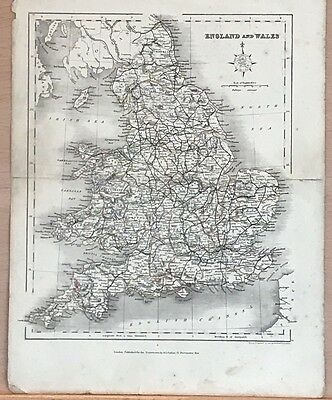 1850 Archer Map England And Wales