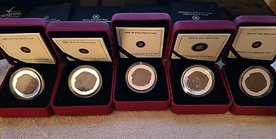 Dinosaur coin $4 Canadian Silver Proof Set 2007- 2010