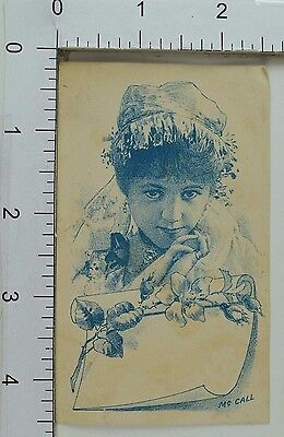 Victorian Trade Card Image Of Lovely Actress Mc Call Fabulous F64