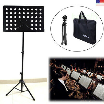 Heavy Duty Music Conductor Stand Adjustable Sheet Tripod Holder Folding Stage US