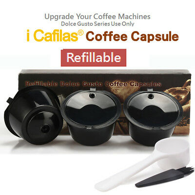 BRBHOM 3 Refillable Reusable Dolce Gusto Coffee Capsules Stainless Steel Filter