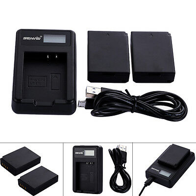 1250mAh Li-Ion Battery+USB Charger for Canon EOS Rebel T3/T5 Rebel 1100D LP-E10