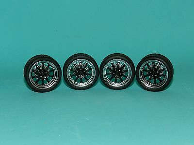 GMP 1/18 Street fighter 10 Spoke Wheel & Tyre Set Great for diorama or rebuilds