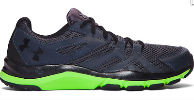 Under Armour Ua Strive 6 Men's Stealth Grey/Green Training Shoes #1274408-008