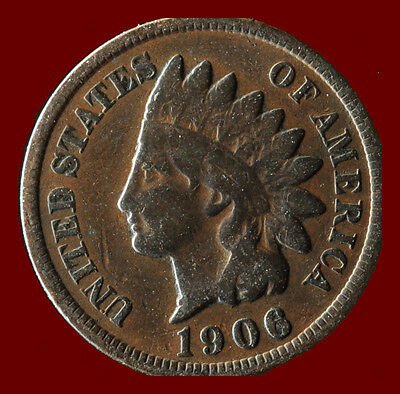 1906-P Indian Cent Ships Free. Buy 3 get xtra Silver Coin. NR
