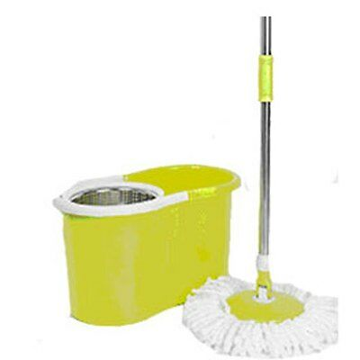 Cyres Internet Mall Magic Spin Mop Green With Stainless Steel Spin Bucket