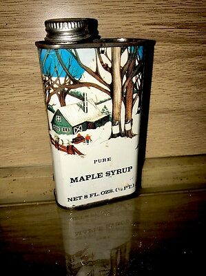 Old Vintage Maple Syrup Can Metal Great Graphics