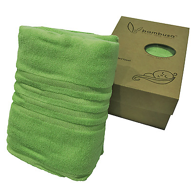 Bambusa Bamboo Hooded Towel 140x70cm Green or Purple For Young Children Kids