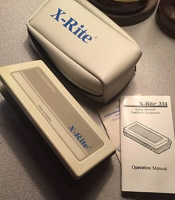 X-Rite 334 Battery Operated Sensitometer With Case And Manuals