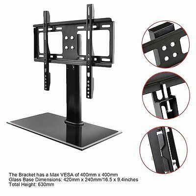 tv universal standfu 42cm x 24cm lcd plasma led halter fernseher st nder top eur 17 60. Black Bedroom Furniture Sets. Home Design Ideas