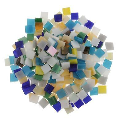 250pcs Mixed Color Vitreous Glass Mosaic Tiles Pieces for DIY Craft 10x10mm