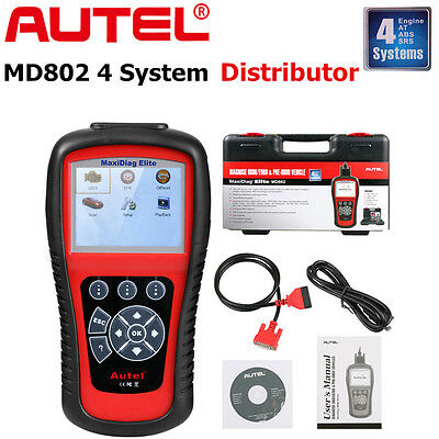 AUTEL MaxiDiag MD802 4 System Diagnostic Scanner Engine SRS ABS Transmission AU