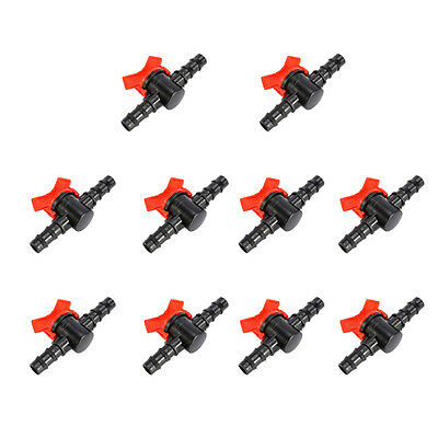 10x Plastic Pipe Coupling Hose In Line Valve Switch Irrigation System Connector