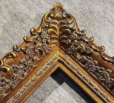 "4.75"" Picture Frame antique Gold Ornate museum Oil Painting Wood 256G 20x24"