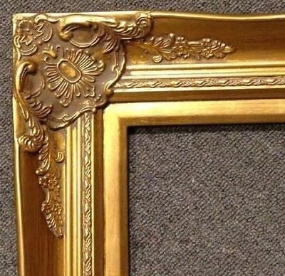 "4"" Gold Leaf Wood Antique Picture Frame photo art wedding gallery 20x30 B9G"