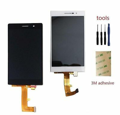 New Black Touch Screen Digitizer with LCD Display Assembly For Huawei Ascend P7