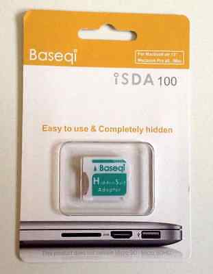 NEW Baseqi HiddenSuit MicroSD Adapter for Apple MacBook Air/Pro Green F/S Japan