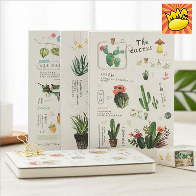 """Green Plants"" 1pc Planner Diary Journal Grid Blank Lined Papers Study Notebook"