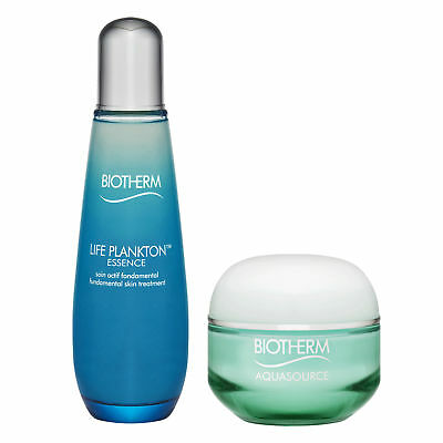 SET OF Biotherm Aquasource Gel 48H Continuous Hydration & Life Plankton Essence