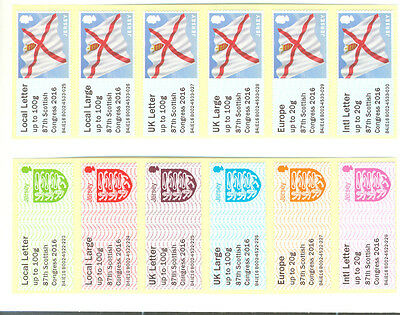 Jersey-87th Congress 2 diff Post &Go overprints mnh-2016 Crests + Flag