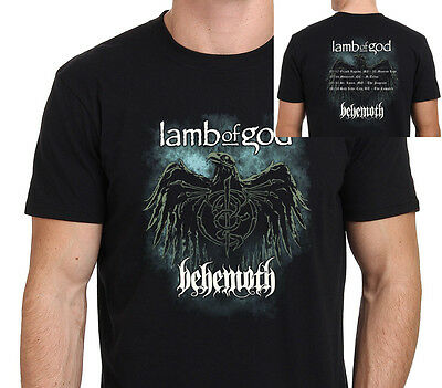 Lamb of God & Behemoth without Slayer Tour 2017 Men's T-Shirt Size: S-to-XXL