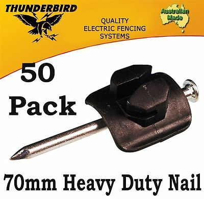 Aussie Made Thunderbird Electric Fence Nail-On Wood Post Insulators Pack of 50