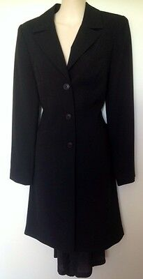 "Ladies Jacket. Black. Longline With Fishtail. Dress Coat. ""Together"" Label"