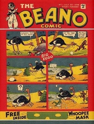 Reproduction Of The First Issue Of The Beano 1938 - Issued 2003 THE BEANO COMIC