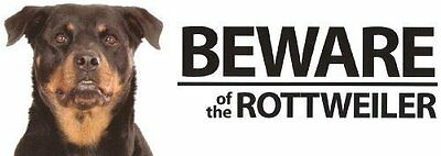 Beware Of The Rottweiler Landscape Plastic Sign