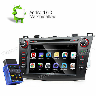 NEW Android 6.0 Car DVD Nav Player Stereo GPS CD for Mazda 3 10-13 Bluetooth A