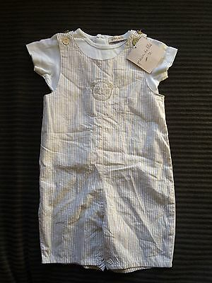 Cute Grain De Ble T-shirt And Overalls. Never Worn, With Tags. Size 6 Mths (00)