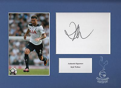 Kyle Walker Signed Tottenham Hotspur A4 Mounted Display Aftal & Uacc [14474]