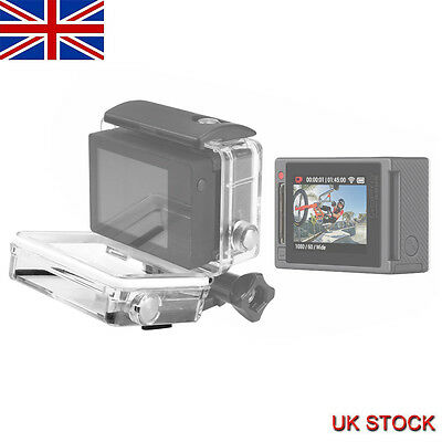 SHOOT Waterproof LCD Display Case BacPac Rear Door Shell for GoPro 3 White/3+/4
