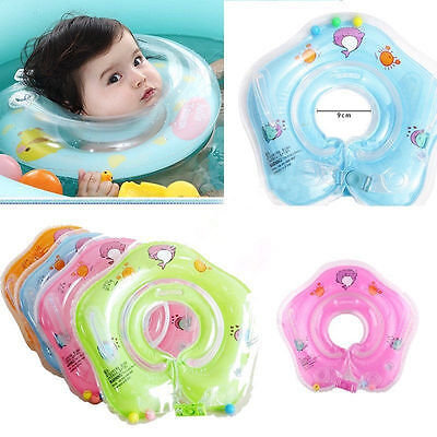 Baby Infant Adjustable Safety Float Swimming Neck Ring Inflatable Bath Toy AU