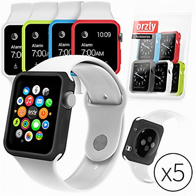 Set of 5 Apple Watch Case Cover 38mm Changeable Silicone iWatch Protector New