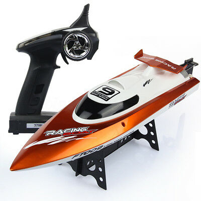 2.4G 4CH 30km/h FT009 Racing Boat  Brush High Speed Water Cooling RC Green