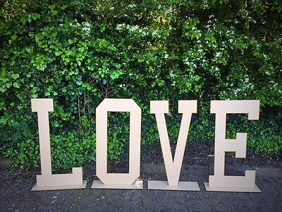 2ft 3ft or 4ft LOVE letters freestanding sign prop photography wedding rustic