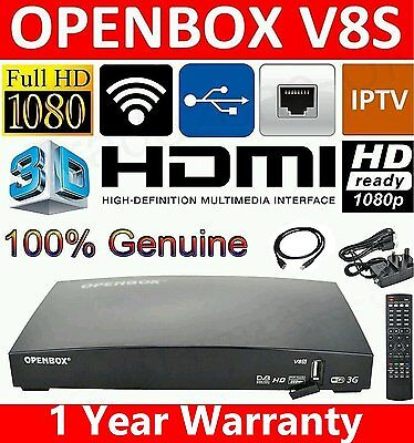 GENUINE OPENBOX V8S FULL HD Freesat PVR Smart TV Satellite Receiver Channel Box