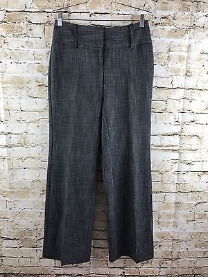 White House Black Market Flat Front Career Dress Pants Trousers Gray/Black Sz 2
