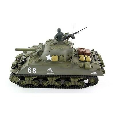 Radio Remote Control RC Tank 2.4G British Sherman 105 Howitzer 1/16 2 Sounds