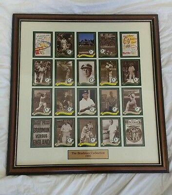 Don Bradman Weet-Bix hand signed The Bradman Collection framed COA included