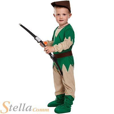 Toddler Robin Hood Fancy Dress Costume Book Week Boys Girls Outfit Age 2-3