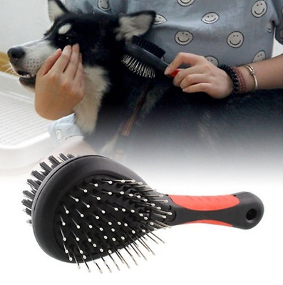 Double Sided Pet Dog Brush Grooming Shedding Comb Puppy Hair Fur Cleaning Tool