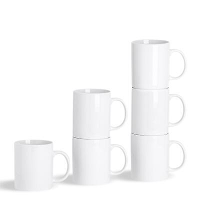 White Straight Sided Tea Coffee Mugs Cups - 285ml (10oz) - x12