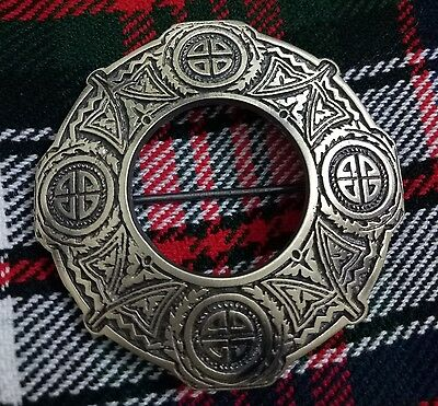 New Scottish Kilt Fly Plaid Brooch Antique Finish/Celtic Knot Fly Plaid Brooches